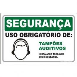 Uso Obrigatório de Tampões Auditivos