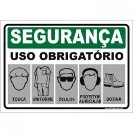Uso Obrigatório de Touca, Uniforme, Óculos, Auricular, Calçado
