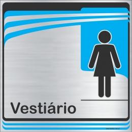Identificação Vestiário feminino (20x20cm)
