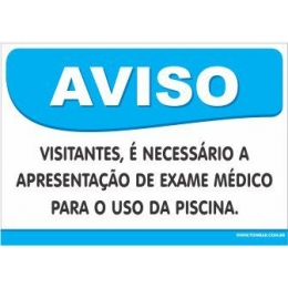 Visitantes, é Necessário a Apresentação de Exame