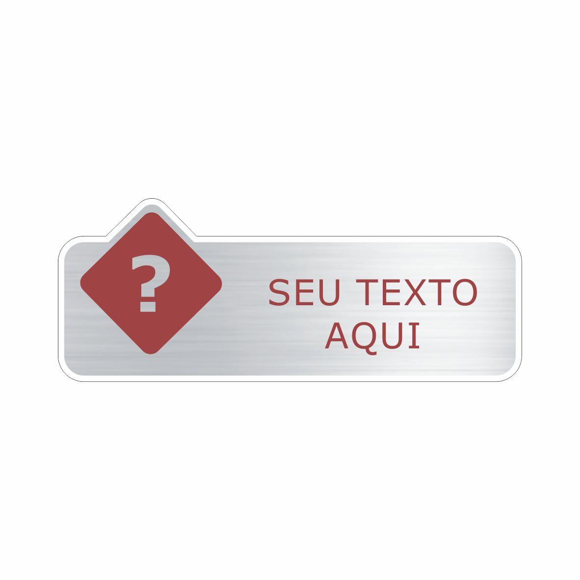 1. Personalize sua placa  - Towbar Sinalização de Segurança