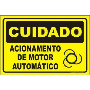 Acionamento de motor automático  - Towbar Sinalização de Segurança