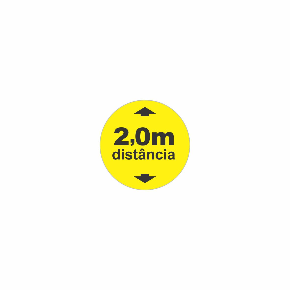 Adesivo para solo Distanciamento 2 metros - Circular  - Towbar Sinalização de Segurança