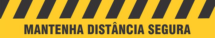 Adesivo para solo mantenha distância segura  - Towbar Sinalização de Segurança