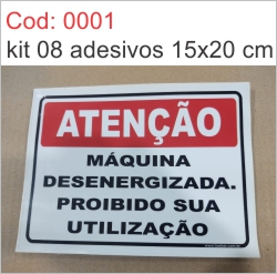 Saldão - Adesivo Máquina Desenergizada Proibido Sua Utilização  - Towbar Sinalização de Segurança
