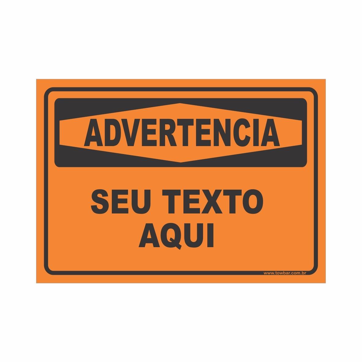 Advertencia  - Towbar Sinalização de Segurança