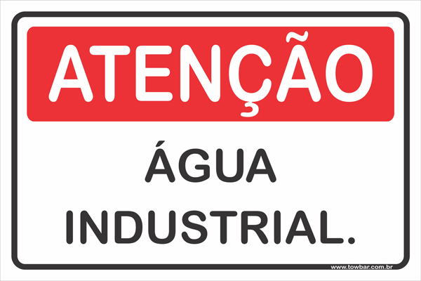 Água industrial  - Towbar Sinalização de Segurança