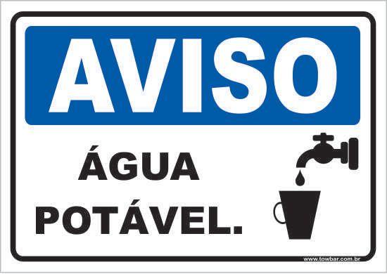 Água Potável  - Towbar Sinalização de Segurança
