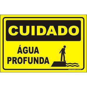 Água profunda  - Towbar Sinalização de Segurança