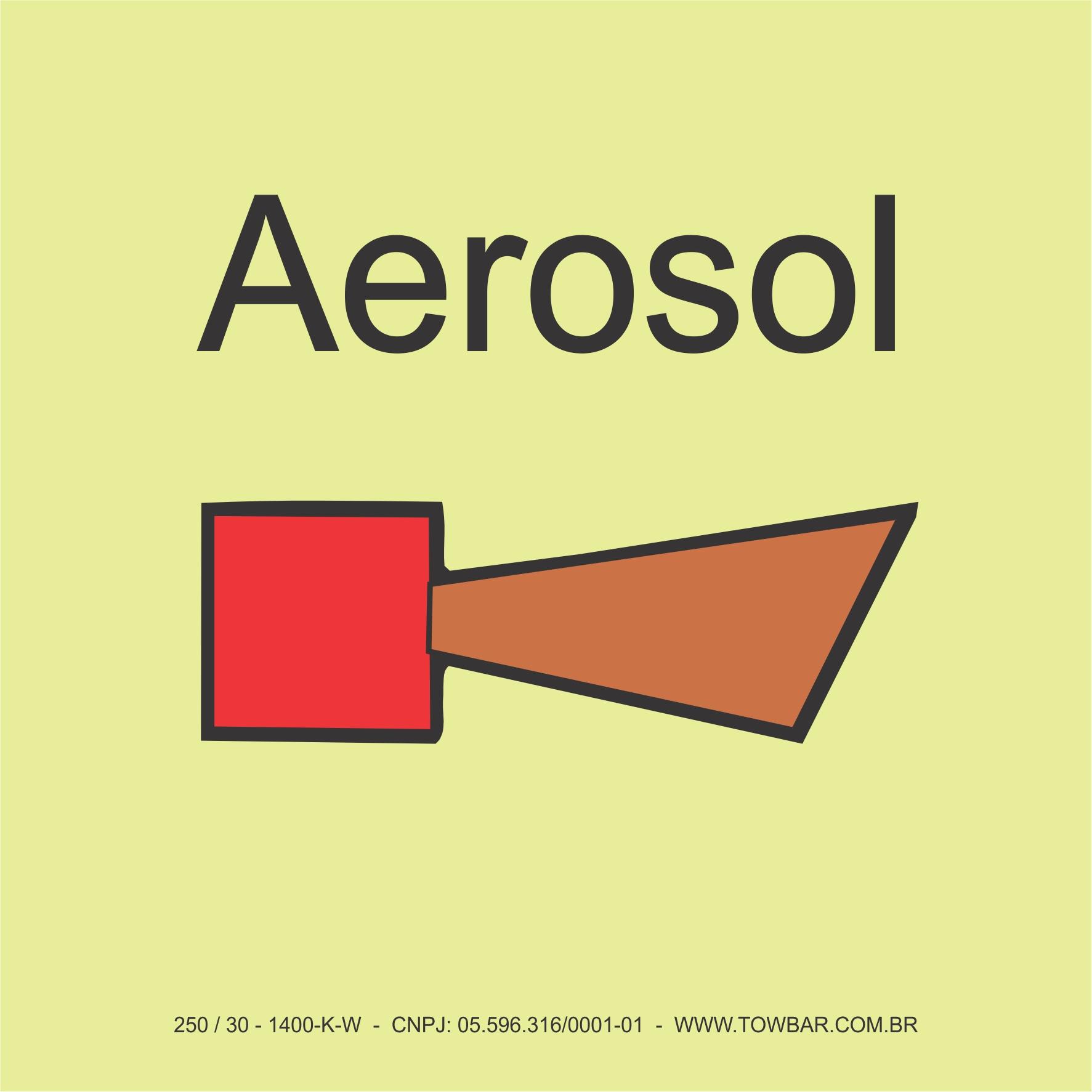 Alarme de incêndio aerosol (Alarm horn aerosol system)  - Towbar Sinalização de Segurança