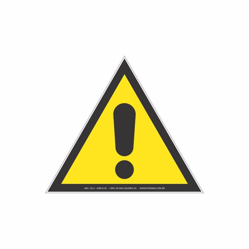 Alerta geral  - Towbar Sinalização de Segurança