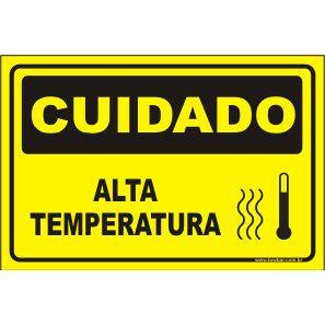 Alta Temperatura  - Towbar Sinalização de Segurança