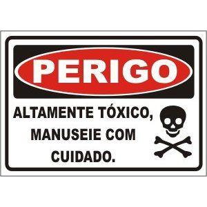 Altamente tóxico manuseie com cuidado  - Towbar Sinalização de Segurança
