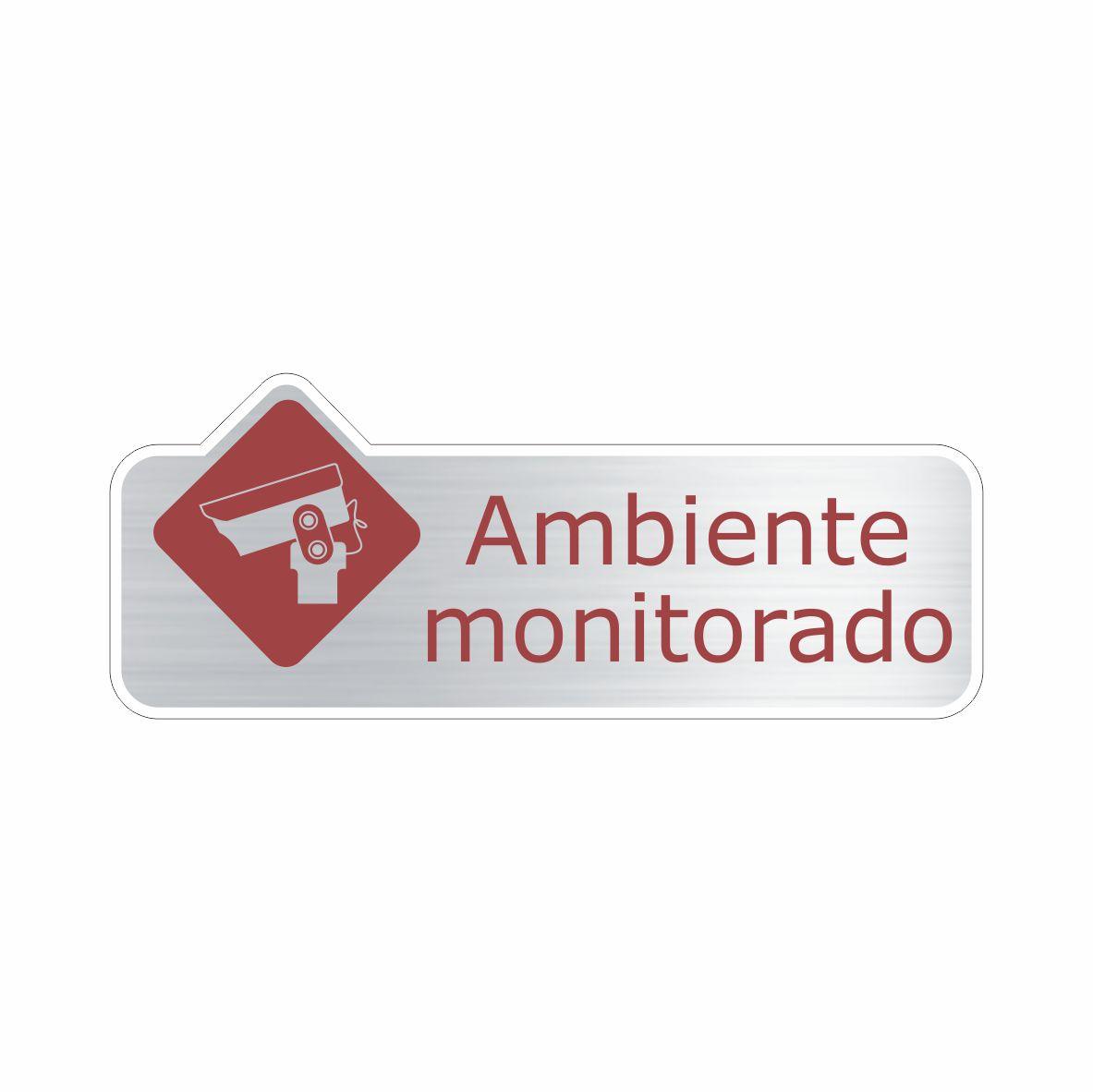 Ambiente monitorado  - Towbar Sinalização de Segurança