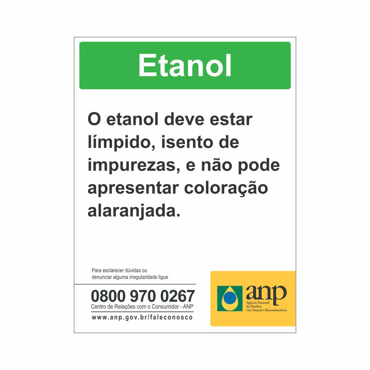 ANP - BOMBA DE ETANOL  - Towbar Sinalização de Segurança