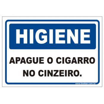 Apague o Cigarro No Cinzeiro.  - Towbar Sinalização de Segurança