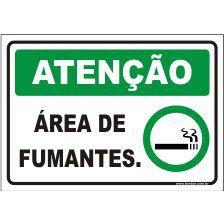 Área de fumantes  - Towbar Sinalização de Segurança