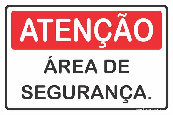 Área de Segurança.  - Towbar Sinalização de Segurança