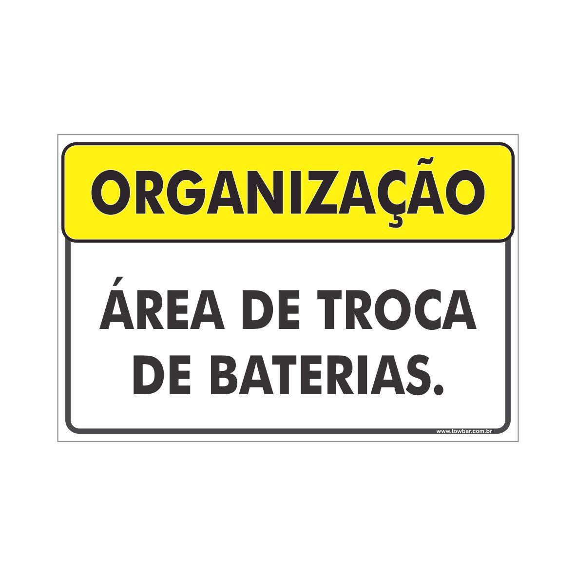 Área de troca de baterias  - Towbar Sinalização de Segurança