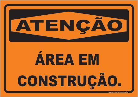 Área Em Construção  - Towbar Sinalização de Segurança