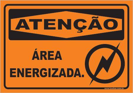 Área Energizada  - Towbar Sinalização de Segurança