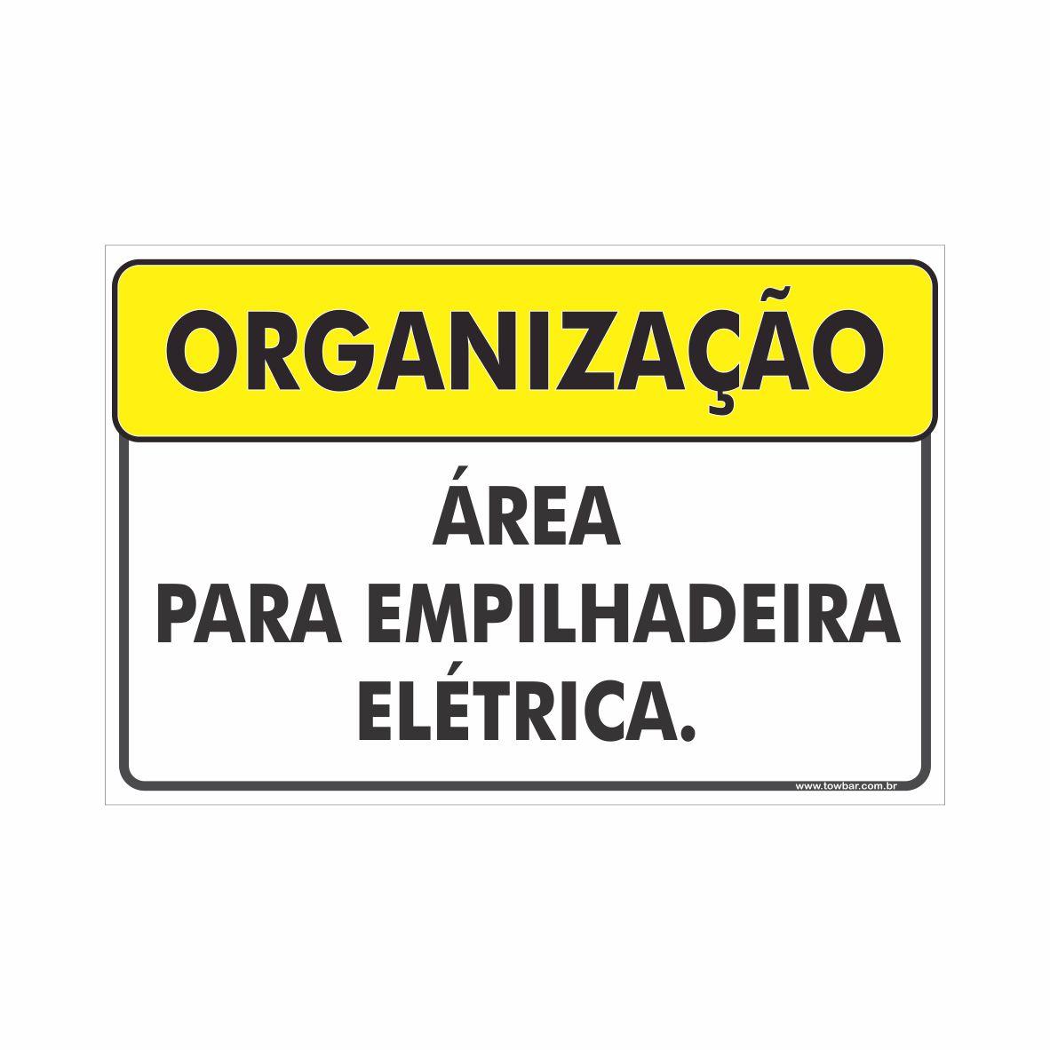 Área para empilhadeira elétrica  - Towbar Sinalização de Segurança
