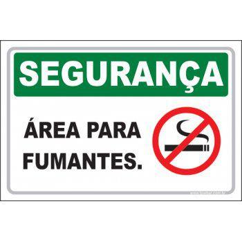 Área para Fumantes  - Towbar Sinalização de Segurança