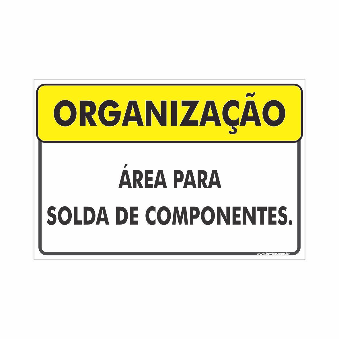 Área para solda  - Towbar Sinalização de Segurança