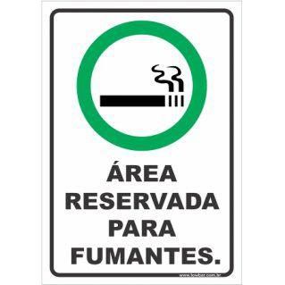 Área reservada para fumantes  - Towbar Sinalização de Segurança