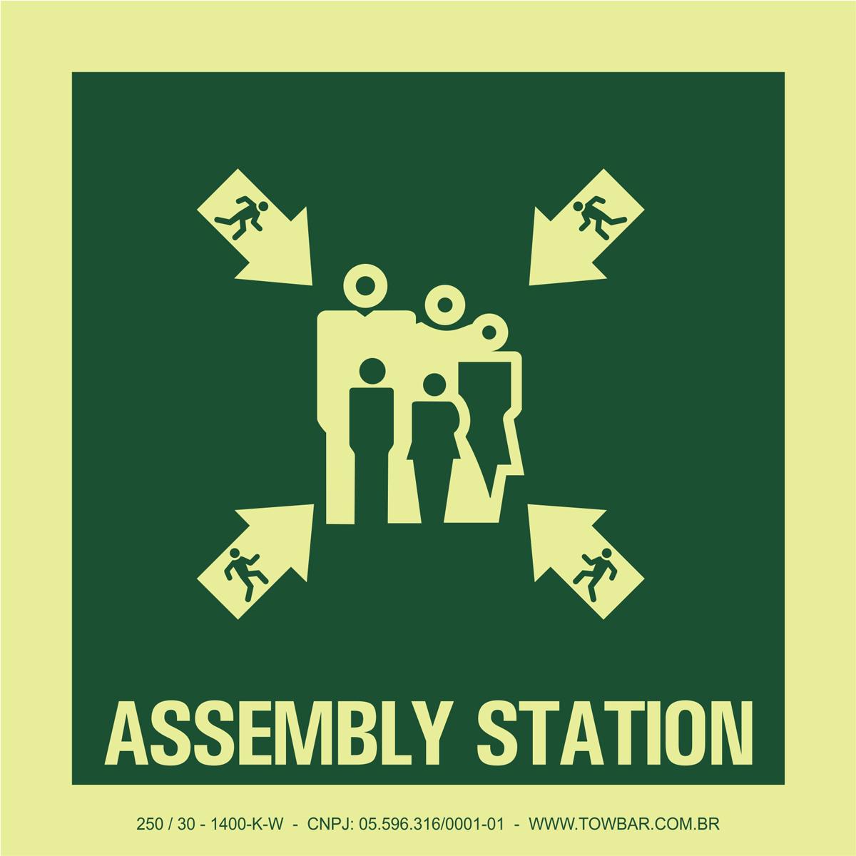 Assembly Station  - Towbar Sinalização de Segurança