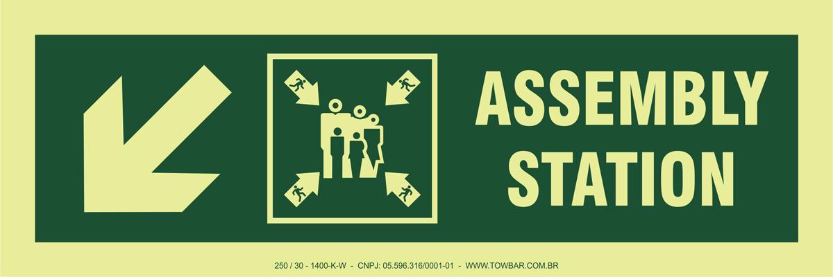 Assembly Station Side Down Left  - Towbar Sinalização de Segurança