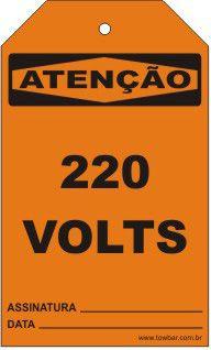Atenção - 220 Volts  - Towbar Sinalização de Segurança