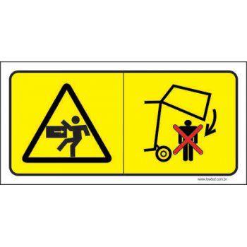 Atenção - Não Ficar Embaixo de Máquinas Em  - Towbar Sinalização de Segurança