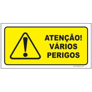 Atenção vários perigos  - Towbar Sinalização de Segurança