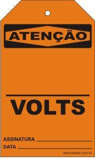 Atenção - Volts  - Towbar Sinalização de Segurança