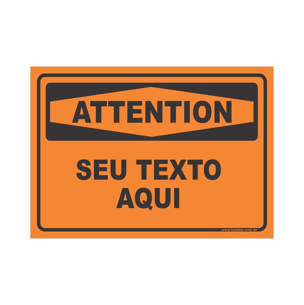 Attention  - Towbar Sinalização de Segurança