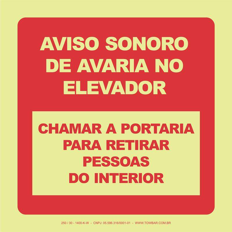 Aviso Sonoro de Avaria no Elevador  - Towbar Sinalização de Segurança