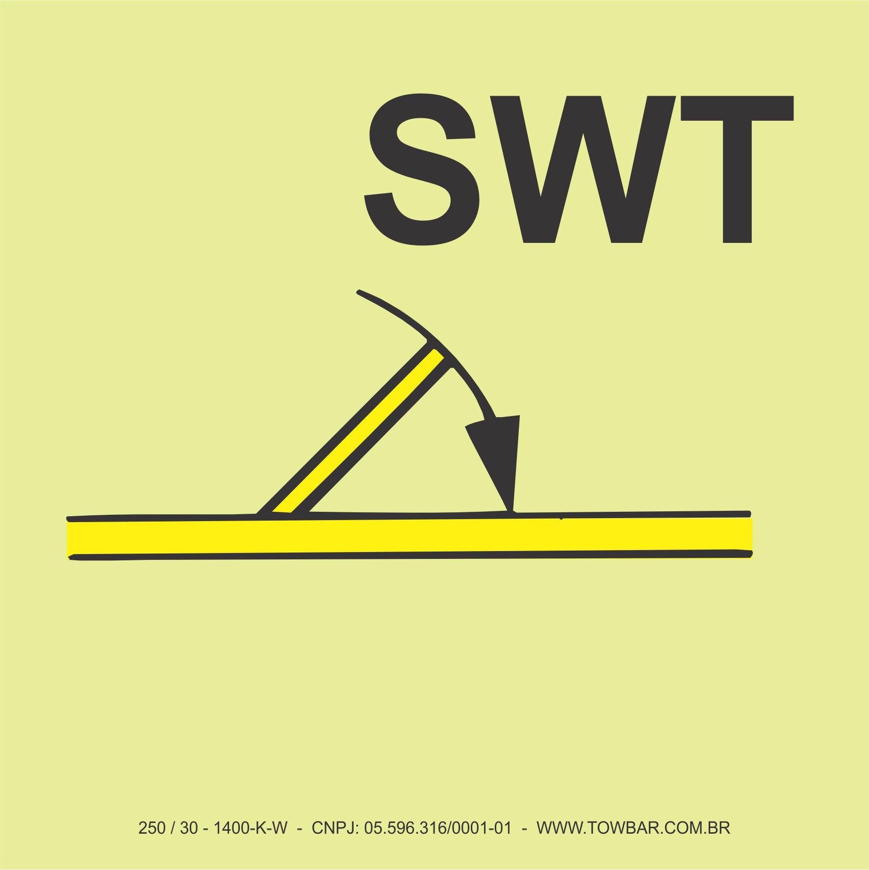 B Class Fire Door Self Closing (SWT)  - Towbar Sinalização de Segurança