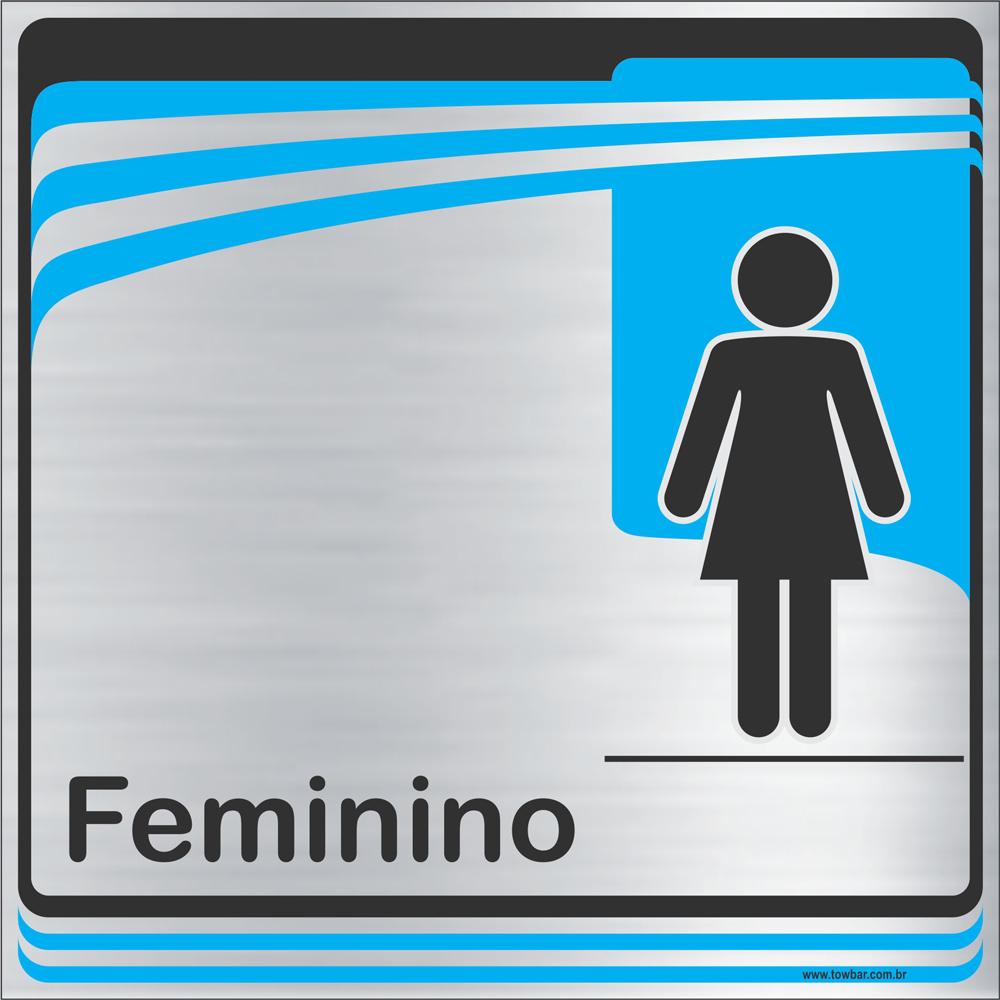 Identificação Banheiro Feminino (20x20cm)  - Towbar Sinalização de Segurança