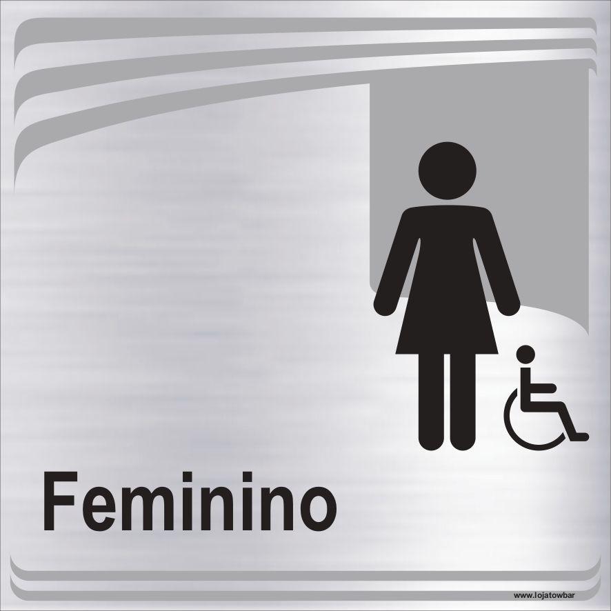 Banheiro feminino inclusivo  - Towbar Sinalização de Segurança