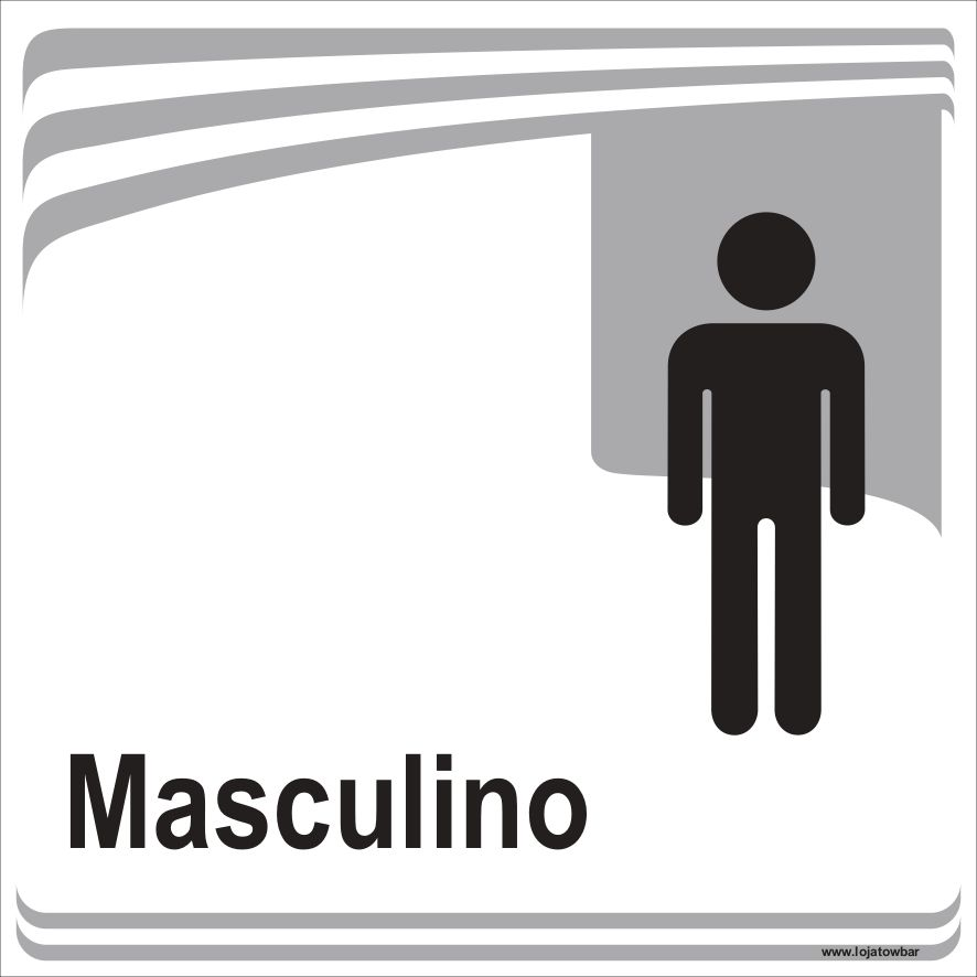 Banheiro Masculino  - Towbar Sinalização de Segurança