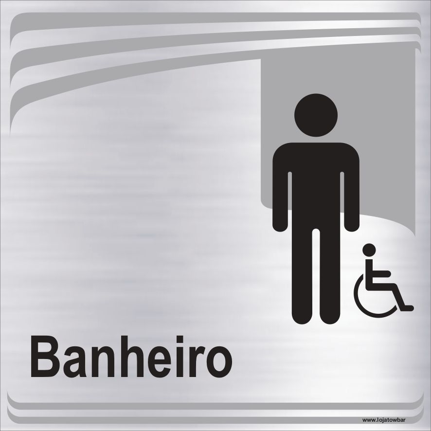 Banheiro Masculino inclusivo   - Towbar Sinalização de Segurança