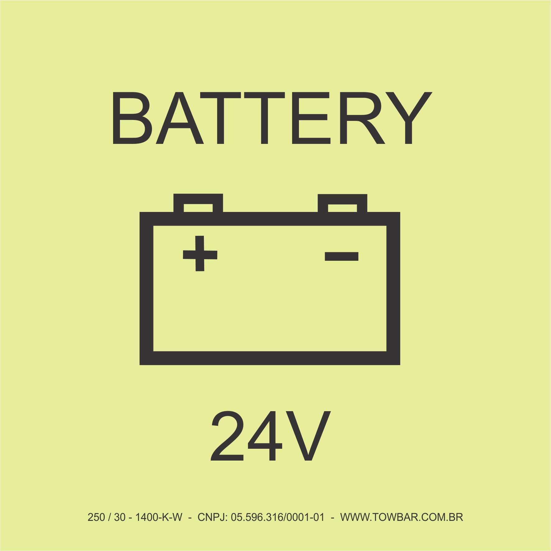 Battery 24V  - Towbar Sinalização de Segurança