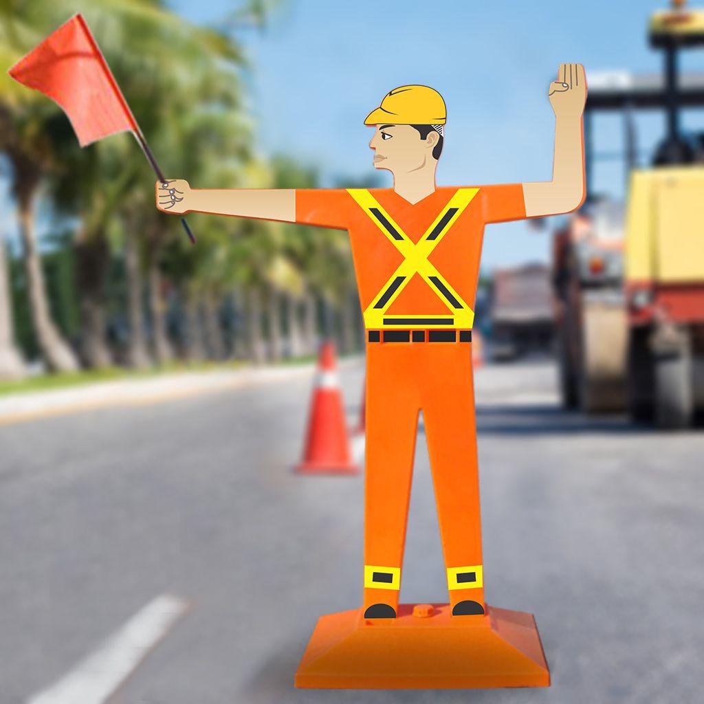 Boneco sinalização de obras  - Towbar Sinalização de Segurança
