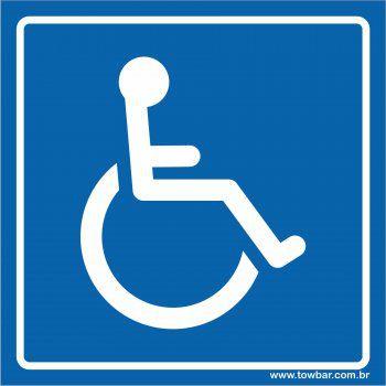 Cadeirante  - Towbar Sinalização de Segurança