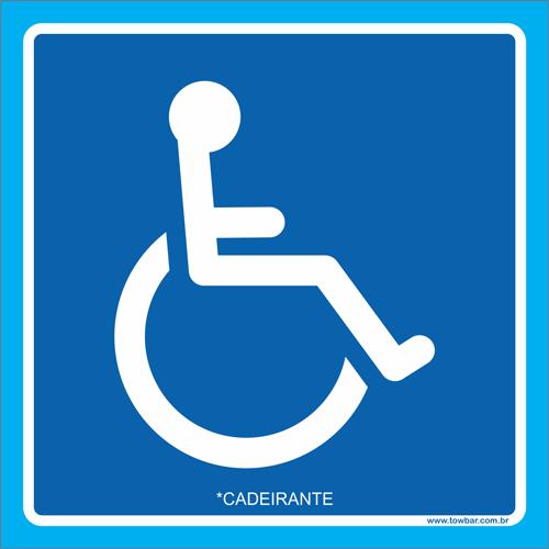 Placa cadeirante  - Towbar Sinalização de Segurança
