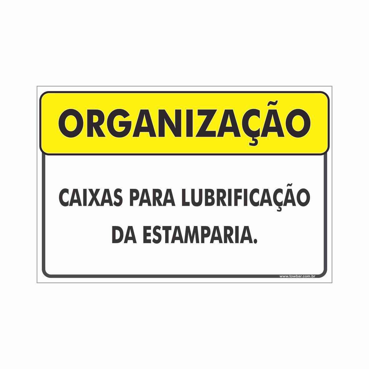 Caixas para lubrificação  - Towbar Sinalização de Segurança
