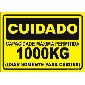 Capacidade Máxima Permitida 1000kg  - Towbar Sinalização de Segurança