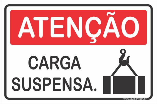 Carga Suspensa  - Towbar Sinalização de Segurança