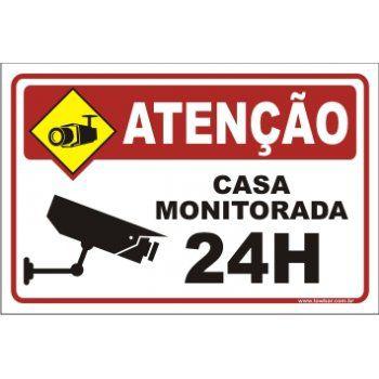 Casa monitorada 24 horas  - Towbar Sinalização de Segurança